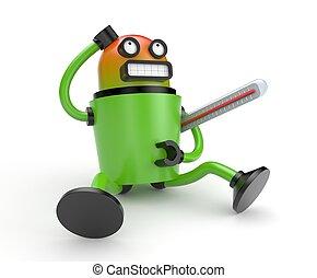 robot, beteg