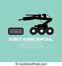 Robot Bomb Disposal Vector