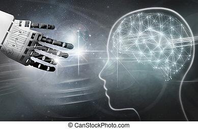 Robot brain connection