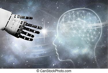 Robot brain contact