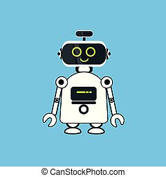 Robot Cartoon Robotic Character Realistic Icon