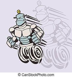 robot cartoon. Vector Illustration.
