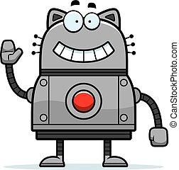 Robot Cat Waving