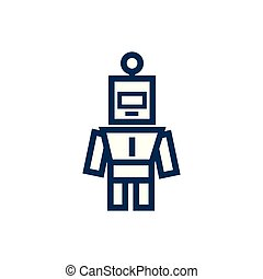 robot child toy line style icon