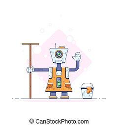 Robot cleaner illustration