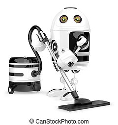 Robot cleaner. Technology concept. Isolated. Contains...