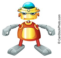robot, colorido