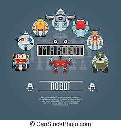 Robot Concept Icons