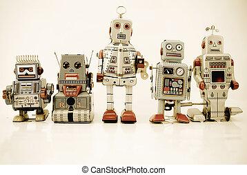 robot, család