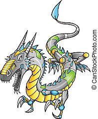 Robot Cyborg Dragon Vector
