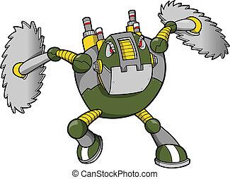 robot, cyborg, massive, guerriero