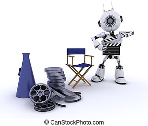 d chets m nagers robot bo te 3d d chets m nagers robot illustration de stock. Black Bedroom Furniture Sets. Home Design Ideas