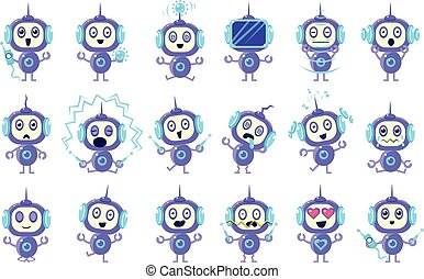 Robot Different Emotions Set