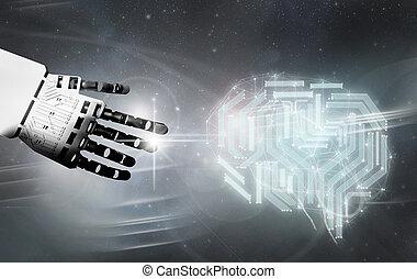Robot digital brain contact