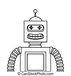 robot electric toy icon