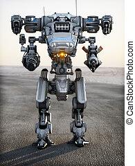 robot, fremtidsprægede, mech, weapon.