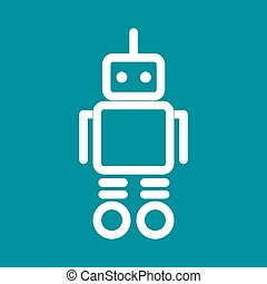 Robot, future, 3d icon vector image.Can also be used for toy...