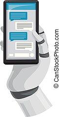 Robot Hand Chatbot Illustration