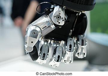 Robot hand macro close up
