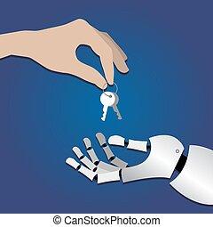 robot hand take