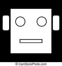 Robot head icon .