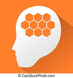 robot, hersenen, symbool