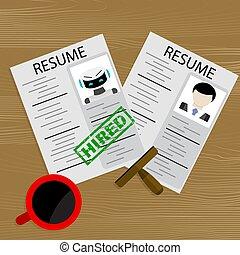 robot, humain, candidat, robot, métier, choisir, embauche, ou