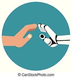 robot human hands