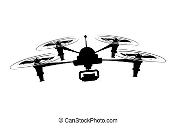 robot icon. Drone design. Vector graphic - Drone concept...