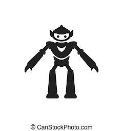 Robot icon vector