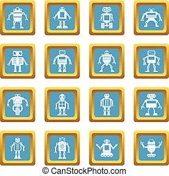 Robot icons azure