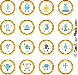 Robot icons circle