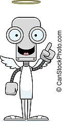 robot, idée, ange, dessin animé