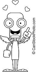 robot, idée, cupidon, dessin animé