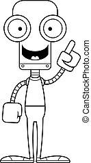 robot, idée, dessin animé