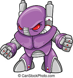 robot, illustration, cyborg, vecteur