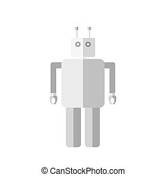 Robot illustration. - Simple flat robot Icon illustration....