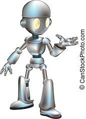 robot, ilustracja, sprytny