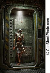 Robot inside spaceship