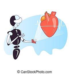 robot, intelligence, humain, recherche, health., artificiel...