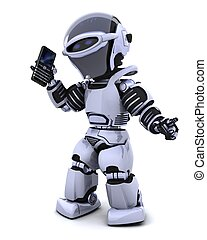 robot, intelligent, phoine