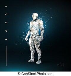robot., intelligentie, kunstmatig