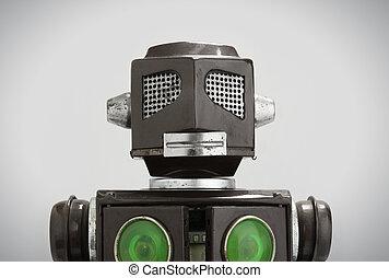 robot jouet, étain, retro