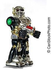 robot jouet, fusil