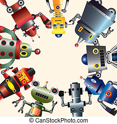 robot, karta