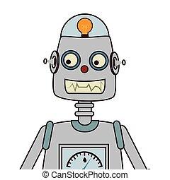 Robot kid toy icon vector illustration