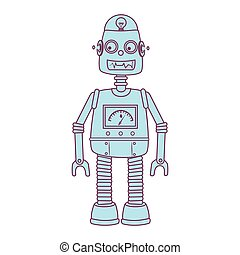 robot kids toy isolated icon