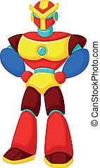 robot, kleurrijke, spotprent