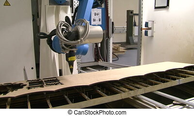 Robot laser cutting