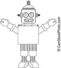Robot line drawing